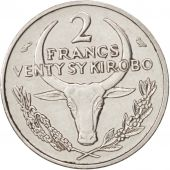 Madagascar, 2 Francs, 1965, Paris, SUP, Stainless Steel, KM:9