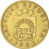 Latvia, 10 Santimu, 1992, TTB+, Nickel-brass, KM:17