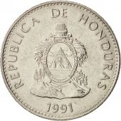 Honduras, 50 Centavos, 1991, SUP, Nickel plated steel, KM:84a.1