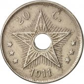 Congo belge, 20 Centimes, 1911, TTB+, Copper-nickel, KM:19