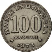 Indonesia, 100 Rupiah, 1973, AU(50-53), Copper-nickel, KM:36
