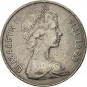 Fiji, Elizabeth II, 20 Cents, 1969, TTB, Copper-nickel, KM:31