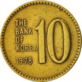 KOREA-SOUTH, 10 Won, 1978, TTB+, Brass, KM:6a