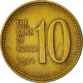 KOREA-SOUTH, 10 Won, 1971, TTB+, Brass, KM:6a