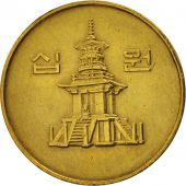 KOREA-SOUTH, 10 Won, 1990, TTB+, Brass, KM:33.1