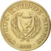 Chypre, 20 Cents, 1989, TTB+, Nickel-brass, KM:62.1