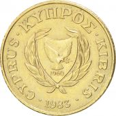 Chypre, 2 Cents, 1983, TTB+, Nickel-brass, KM:54.1