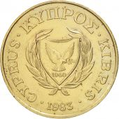 Chypre, 20 Cents, 1983, TTB+, Nickel-brass, KM:57.1