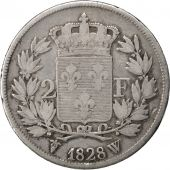 Charles X, 2 Francs, 1828 W Lille