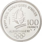Vème République, 100 Francs Albertville, Hockey, 1991, KM 993