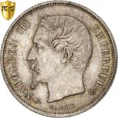 Second Empire, 50 Centimes Napoléon III tête nue, 1857 A, PCGS MS64, KM 794.1
