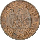 Second Empire, 2 Centimes Napoléon III tête nue 1853 A, KM 776.1