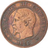 Second Empire, 2 Centimes Napoléon III tête nue 1853 B, KM 776.2