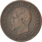 Second Empire, 2 Centimes Napoléon III tête nue 1853 BB, KM 776.3