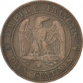 Second Empire, 2 Centimes Napoléon III tête nue 1854 BB, KM 776.3