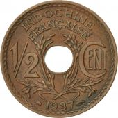 Indochine, 1/2 Cent 1937, KM 20