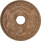 Indochine, 1/2 Cent 1940, KM 20