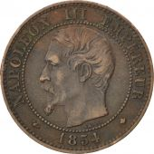 Second Empire, 2 Centimes Napoléon III, tête nue, 1854 BB, KM 776.3