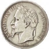 Second Empire, 5 Francs Napoléon III tête laurée, 1862 A, KM 799.1