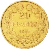 Louis-Philippe, 20 Francs Or 1838 W, KM 750.5