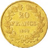 Louis-Philippe, 20 Francs Or 1839 W, KM 750.5