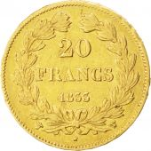 Louis-Philippe, 20 Francs Or 1833 W, KM 750.5