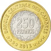 Comores, République, 250 Francs 2013, KM New