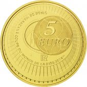 Vème République, 5 Euro Or Coupe du Monde Fifa 2014, KM New