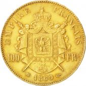 Second Empire, 100 Francs Or Napoléon III, tête laurée, 1869 BB, KM 802.2