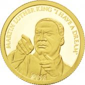 Iles Cook, Elisabeth II, 10 Dollars Or Martin Luther King 2010, KM 1297