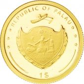 Palaos, République, 1 Dollar Or Fontaine de Trévi 2009, KM 241