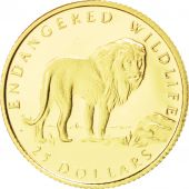 Iles Cook, Elisabeth II, 25 Dollars Or Lion 1992, KM 242