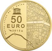 Vème République, 50 Euro Or Unesco, Les Invalides - Le Grand Palais 2015