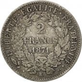 Gouvernement de Défense nationale, 2 Francs Cérès 1871 K, Bordeaux, KM 817.2