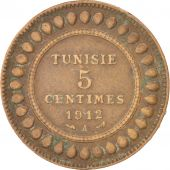 Tunisie, 5 Centimes 1912 A, Paris, KM 235