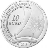 France, Monnaie de Paris, 10 Euro Le Soleil Royal 2015