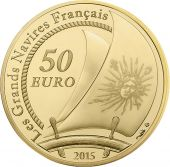France, Monnaie de Paris, 50 Euro Or Le Soleil Royal 2015