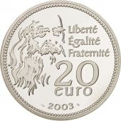France, Monnaie de Paris, 20 Euro Mona Lisa, La Joconde, 2003, KM 2004