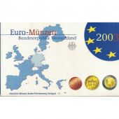 Germany, 5 x Proof Euro Set of 8 coins, 5 Mints, 2003 ADFGJ