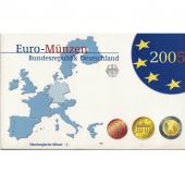Germany, 5 x Proof Euro Set of 8 coins, 5 Mints, 2005 ADFGJ