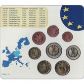 Germany, 5 x Euro Set of 8 coins, 5 Mints, 2005 ADFGJ