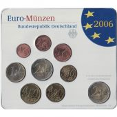 Germany, 5 x Euro Set of 9 coins, 5 Mints, 2006 ADFGJ