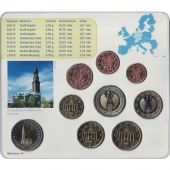 Germany, 5 x Euro Set of 9 coins, 5 Mints, 2008 ADFGJ