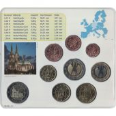 Germany, 5 x Euro Set of 9 coins, 5 Mints, 2011 ADFGJ