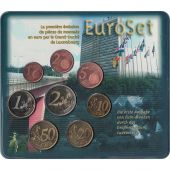 Luxembourg, Euro Set of 8 coins, 2002