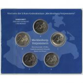 Germany, Euro Set of 5 x 2 Euro, 2007 ADFGJ