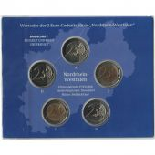 Germany, Euro Set of 5 x 2 Euro, 2011 ADFGJ