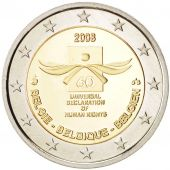 Belgium, 2 Euro Declaration of Human Rights 2008, Brussels, KM:248, MS, PROOF