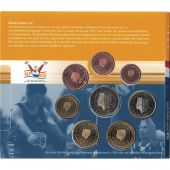 Netherlands, Euro Set of 8 coins, 2001