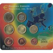 Spain, Euro Set of 8 coins, 2001